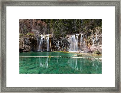 Framed Print featuring the photograph Hanging Lake by Jay Stockhaus