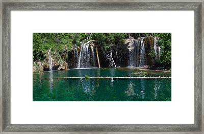 Hanging Lake Panorama Framed Print by Aaron Spong