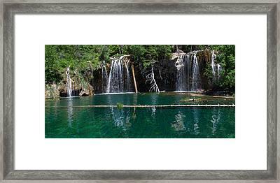 Hanging Lake Panorama Framed Print
