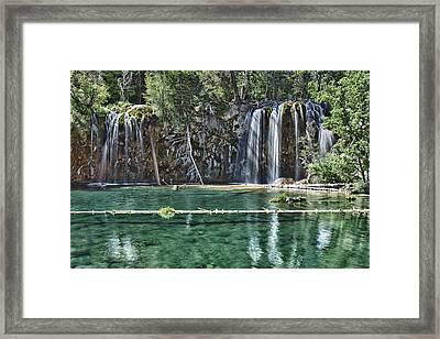 Hanging Lake Framed Print by Priscilla Burgers