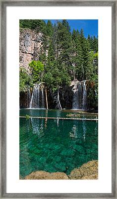 Hanging Lake Vertical Panorama Framed Print by Aaron Spong