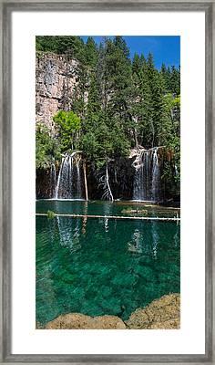 Hanging Lake Vertical Panorama Framed Print