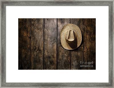 Hanging My Hat Framed Print