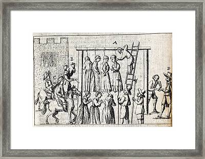 Hanging Of Witches, 17th Century Framed Print