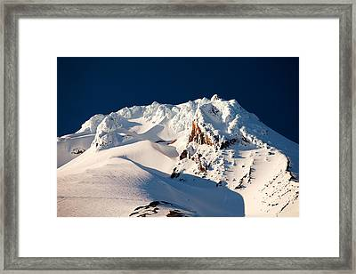 Hanging On Hood Framed Print by Darren  White