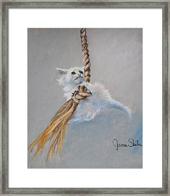Hanging On Framed Print by James Skiles