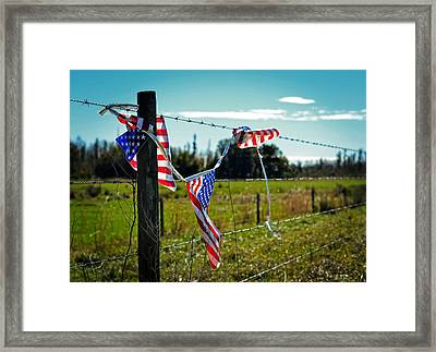 Hanging On - The American Spirit By William Patrick And Sharon Cummings Framed Print