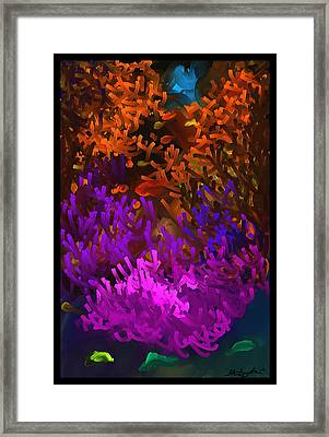 Hanging Out At The Reef Framed Print