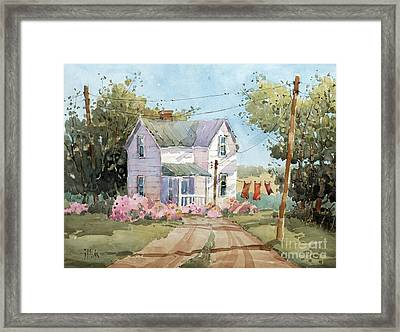Hanging Out In Illinois By Joyce Hicks Framed Print