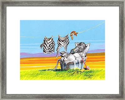 Hanging Out Framed Print by Rose Rigden