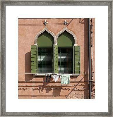 Framed Print featuring the digital art Hanging Out To Dry by Ron Harpham