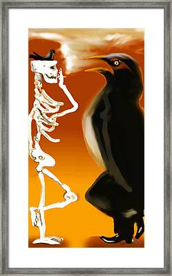 Hanging Out Framed Print by Marcello Cicchini