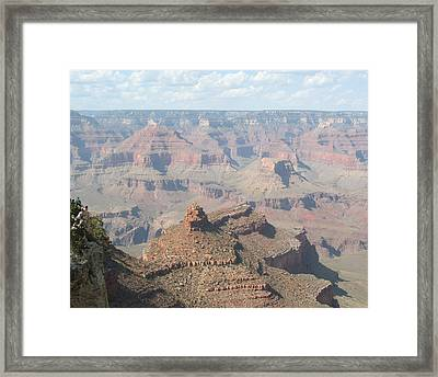 Hanging Over The Edge Framed Print