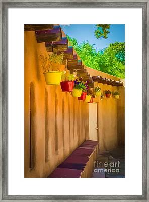 Hanging Pots - Watercolor Framed Print