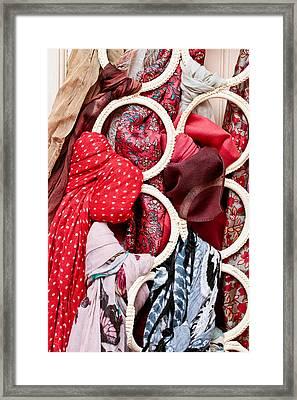 Hanging Scarfs Framed Print