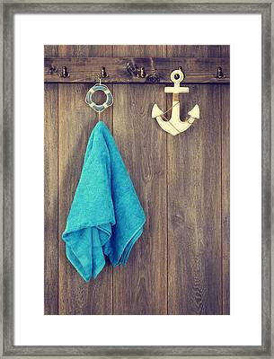 Hanging Towel Framed Print