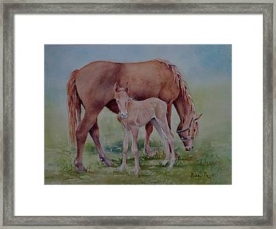 Hanging With Mom Framed Print by Bobbi Price