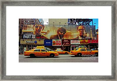 Hangover Movie Poster In New York City Framed Print