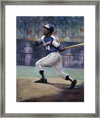 Hank Aaron Framed Print by Gregory Perillo