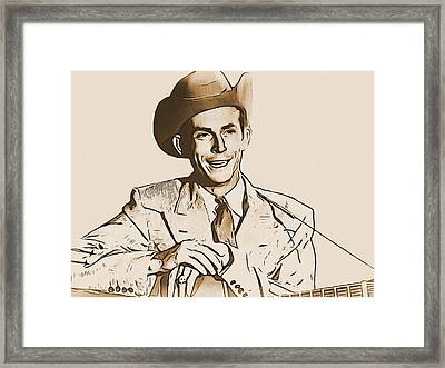 Hank Williams Framed Print