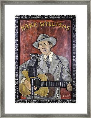Hank Williams Framed Print by Eric Cunningham