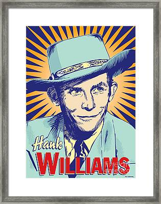 Hank Williams Pop Art Framed Print