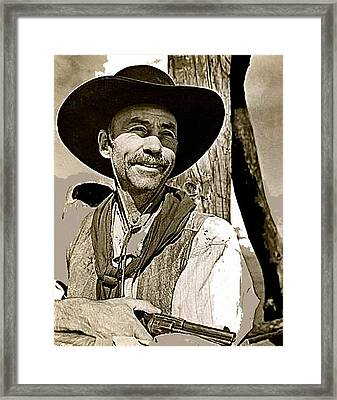 Hank Worden Publicity Photo Red River 1948-2013 Framed Print by David Lee Guss