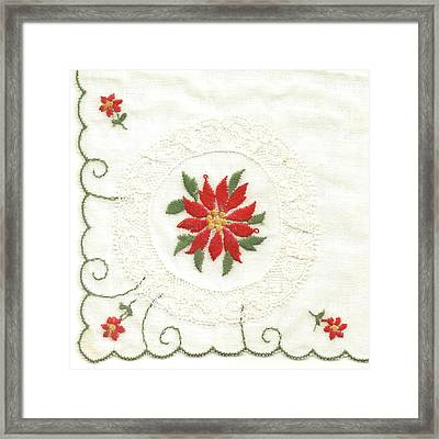 Hanky Made In Switzerland Framed Print by Lili Ludwick