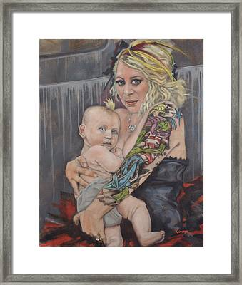 Hannah And Asher Framed Print