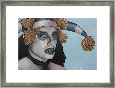 Hano Clown By K Henderson  Framed Print by K Henderson