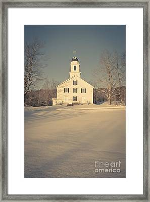 Hanover Center Church Etna New Hampshire Framed Print by Edward Fielding