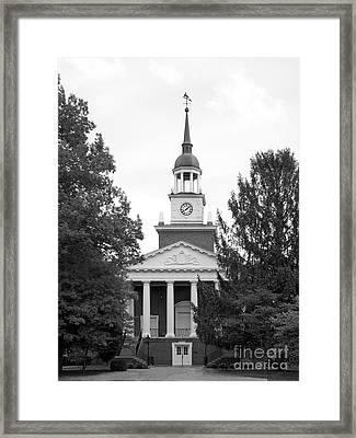 Hanover College Parker Auditorium Framed Print by University Icons