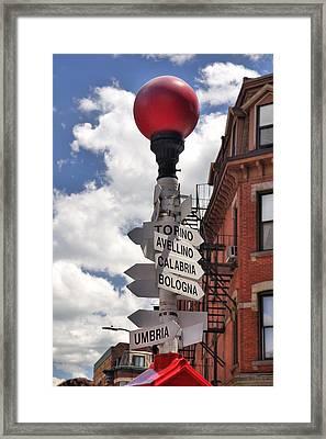 Hanover Street Boston North End Framed Print by Joann Vitali