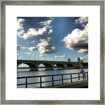 Framed Print featuring the photograph Hanover Street Bridge by Toni Martsoukos