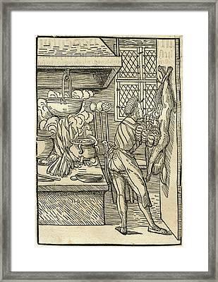 Hans Burgkmair I And Johann Geiler Von Kaysersberg Author Framed Print by Litz Collection