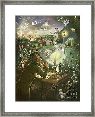 Hans Christian Andersen Framed Print by Anne Grahame Johnstone