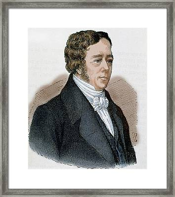 Hans Christian Oersted (1777-1851 Framed Print by Prisma Archivo