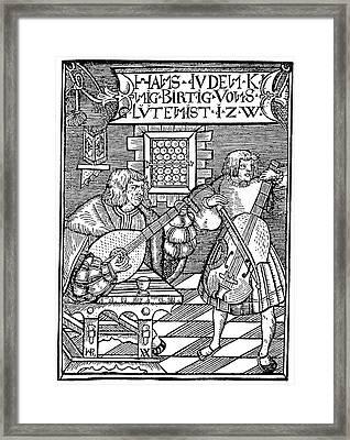 Hans Judenkunig, 1523 Framed Print