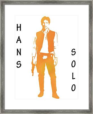 Hans Solo Star Wars Framed Print