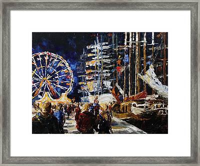 Hanse Sail Rostock Germany Framed Print by Barbara Pommerenke