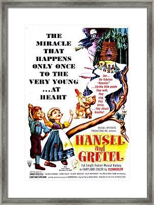 Hansel And Gretel, Us Poster, 1954 Framed Print by Everett