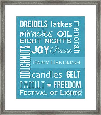 Hanukkah Fun Framed Print by Linda Woods