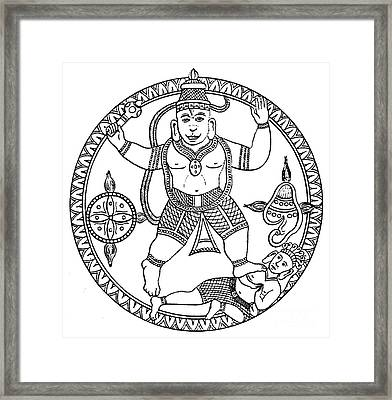 Hanuman, Hindu Monkey God Framed Print