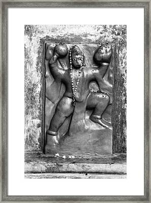 Hanuman Idol Framed Print by Jagdish Agarwal