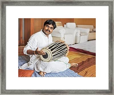 Hanumant Ghadge Tabla Accompaniment At Private Party Framed Print