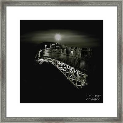 Ha'penny By Night Framed Print