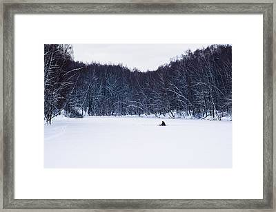 Happily Alone - Featured 3 Framed Print