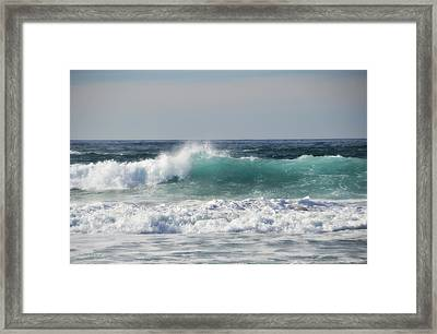 Happily At Sea Framed Print