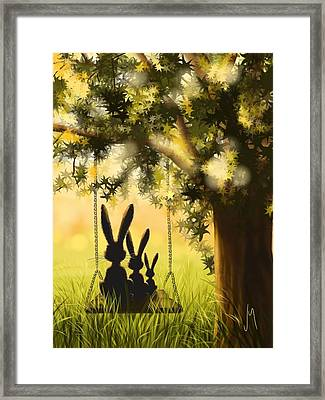 Happily Together Framed Print by Veronica Minozzi