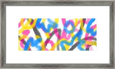 Happily Written Framed Print